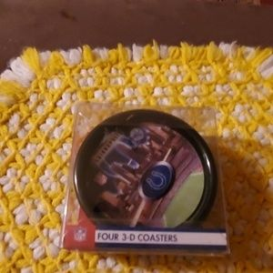 Set of four 3D coasters of the Colts